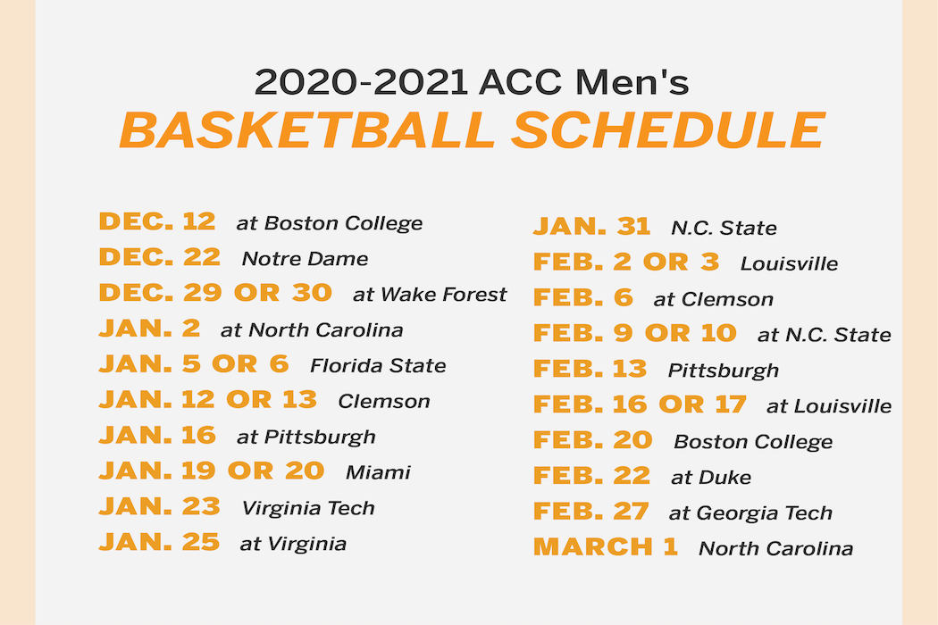 Acc Announces Syracuse S Conference Schedule For 2020 21 Season