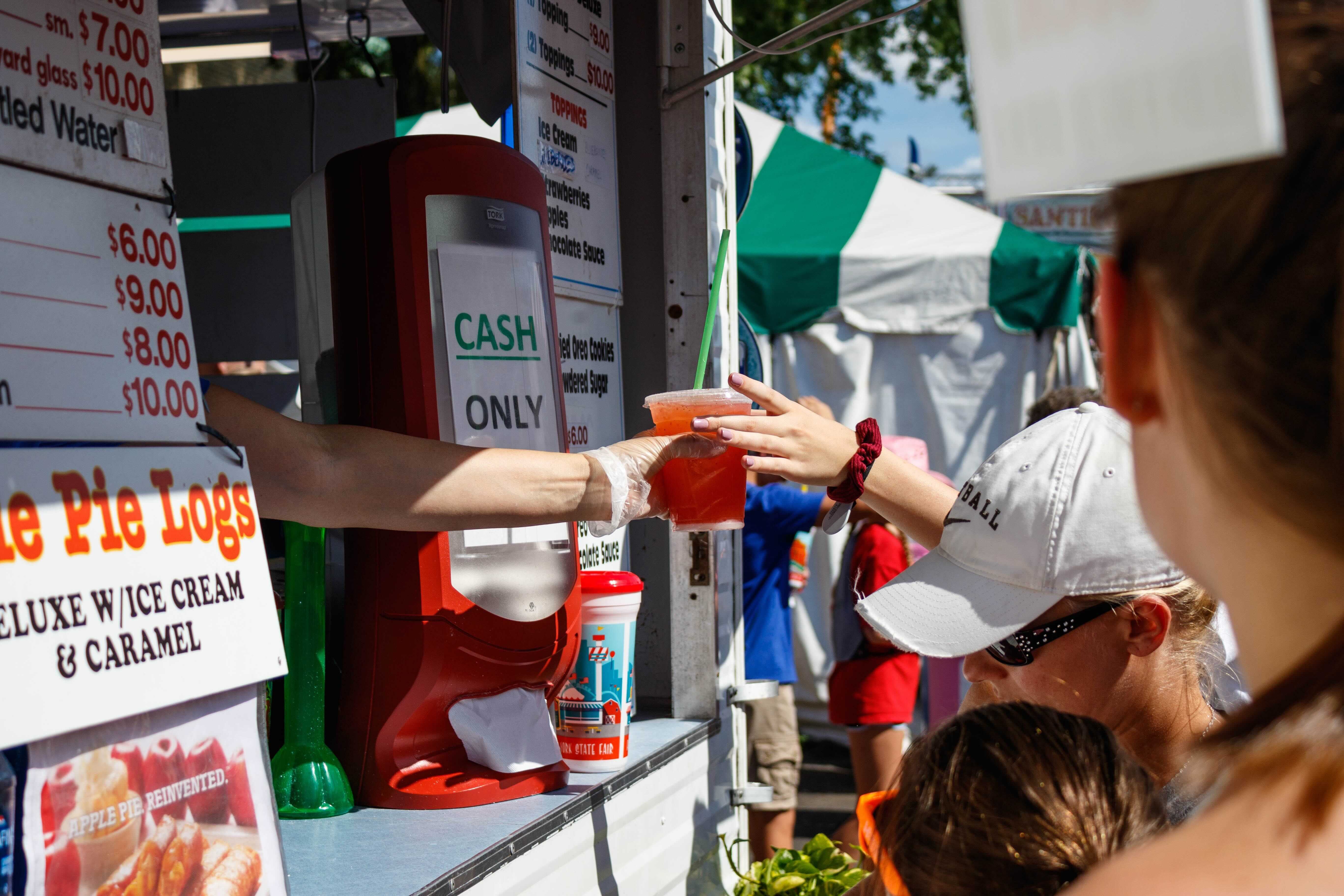Food vendor at the Great New York State Fair 2019