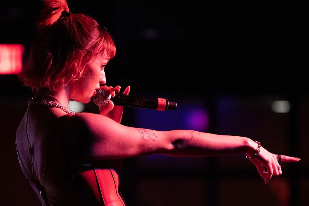 Rebecca Black performing at Schine Underground
