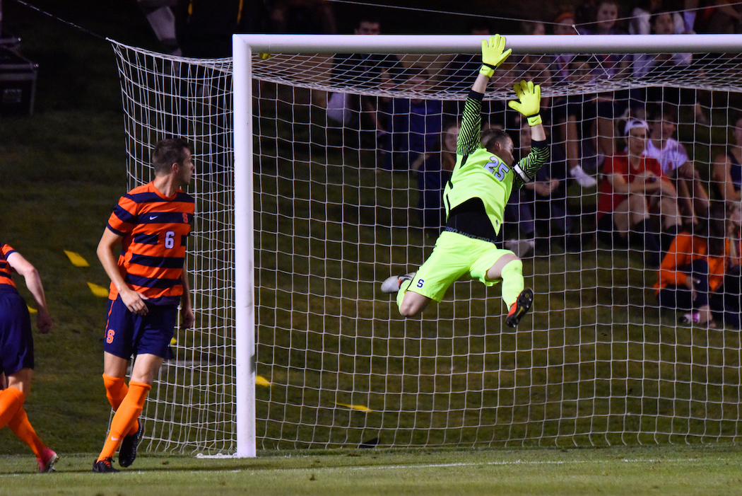 Russell Shealy and Lucas Daunhauer have split time in goal for the Orange this season.