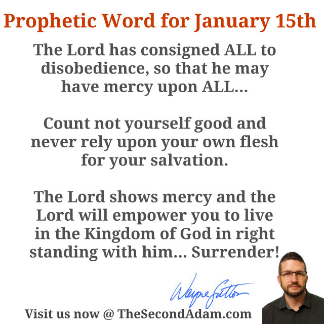 daily prophetic words