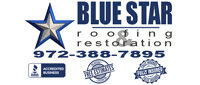 Website for Blue Star Restoration & Roofing