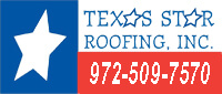 Website for Texas Star Roofing, Inc.