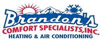 Website for Brandon's Comfort Specialists, Inc.