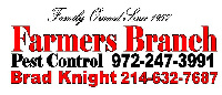 Website for Farmers Branch Pest Control