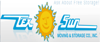 Website for Tex Sun Moving & Storage Co.