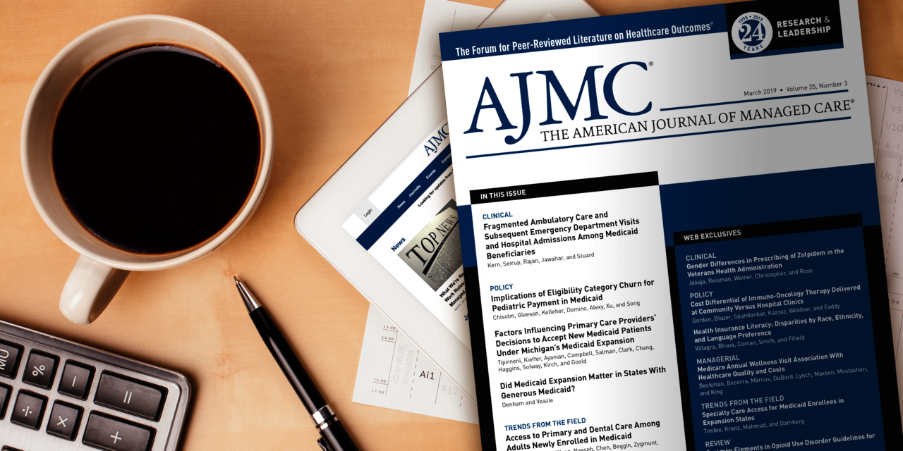 5 Findings From the November 2019 Issue of <i>AJMC</i><sup>®</sup>