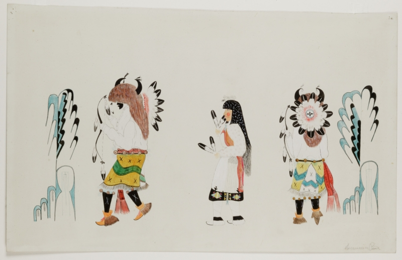 Three Buffalo Dancers
