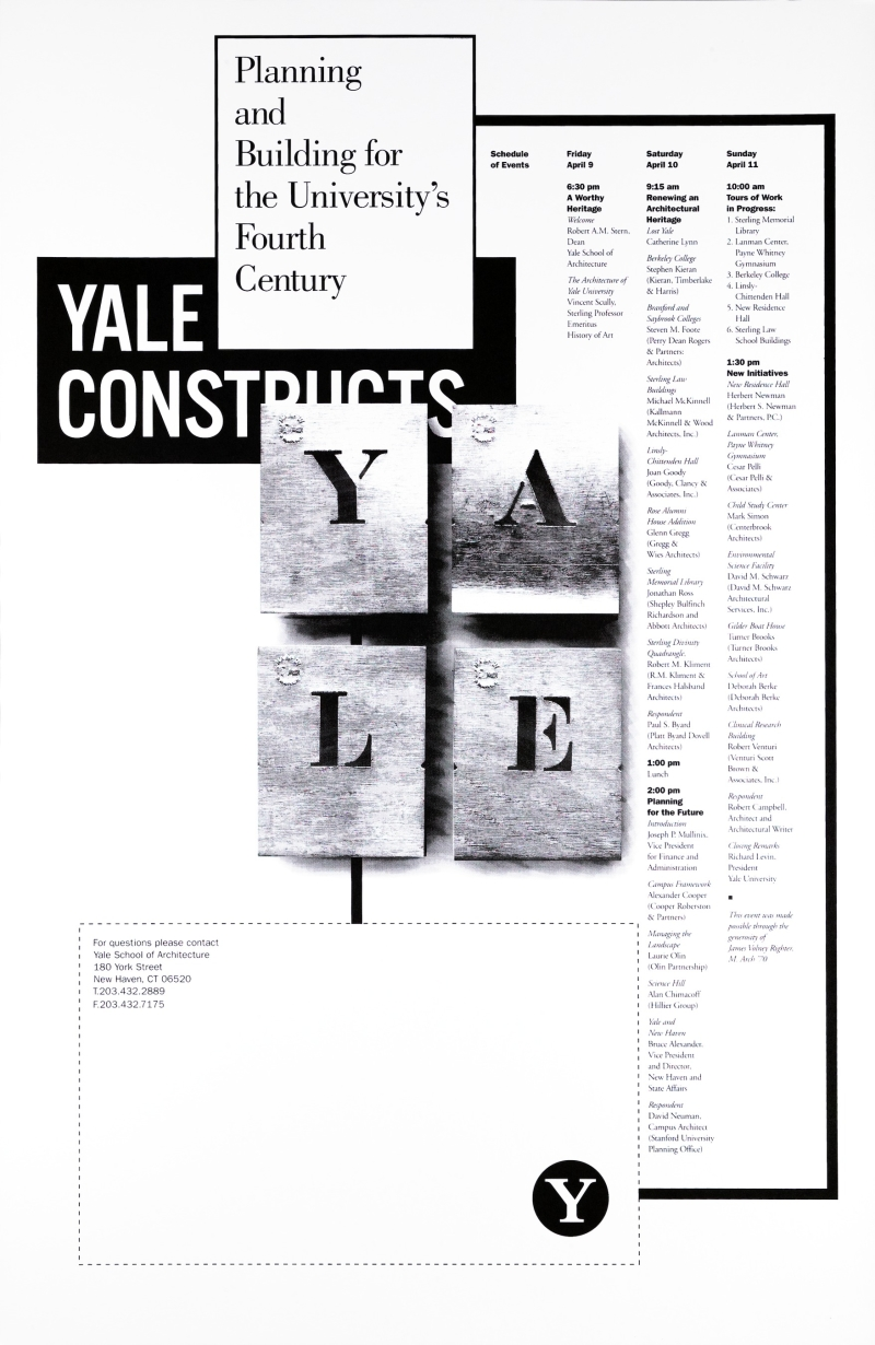 Yale Constructs: Planning and Building for the University's Fourth Century