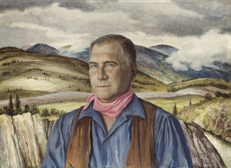 Portrait of Henry Stein with background of Red Butte Ranch, Aspen
