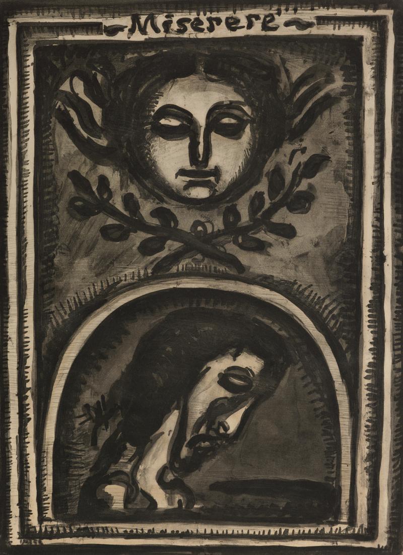 Miserere Mei Deus Secundum Magnam Misericordiam Tuam; from Folio Miserere: D'Edition L'Etoile Filante, Paris, . .