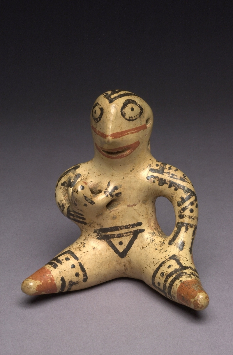 Seated Female Figurine Holding a Child