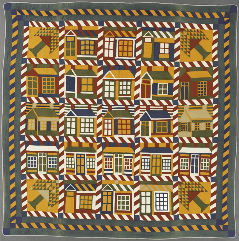 Houses and Pine Trees Quilt