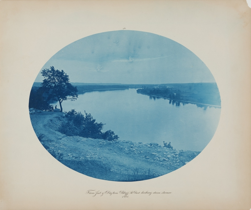 From foot of Dayton's Bluff, St. Paul looking down stream from the album Views on the Mississippi River between Minneapolis, Minn and St. Louis, Mo., 1883-1891