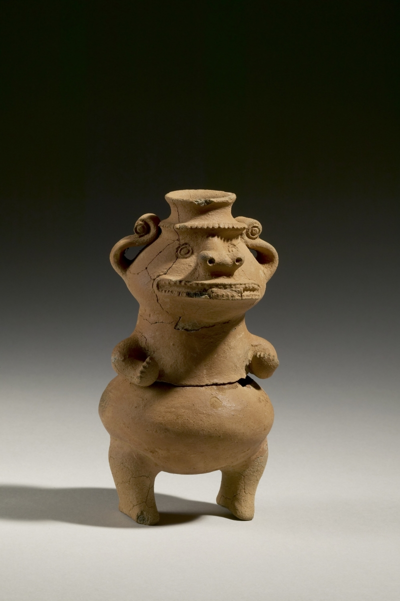 Standing Crocodile-Human Figure Jar