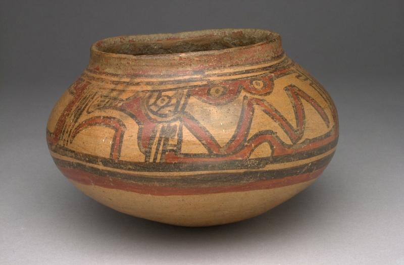 Bowl with Stylized Monkey Imagery