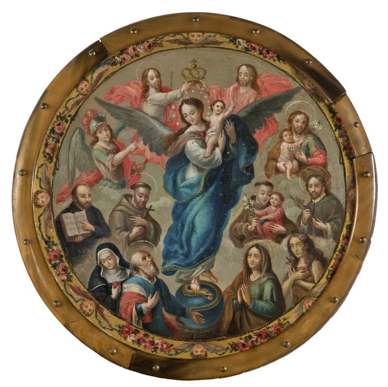 Virgin of Apocalypse Surrounded by Saints (nun's badge)