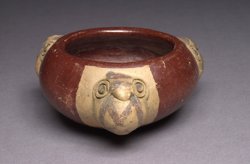 Bowl with Modeled Bird Heads