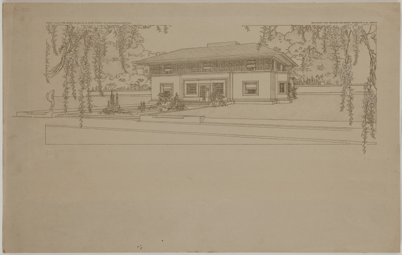 Winslow House, River Forest, Illinois, Exterior perspective