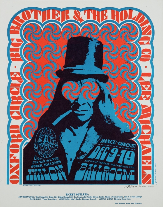 Top Hat; Big Brother and the Holding Company, Oxford Circle, Lee Michaels; Avalon Ballroom