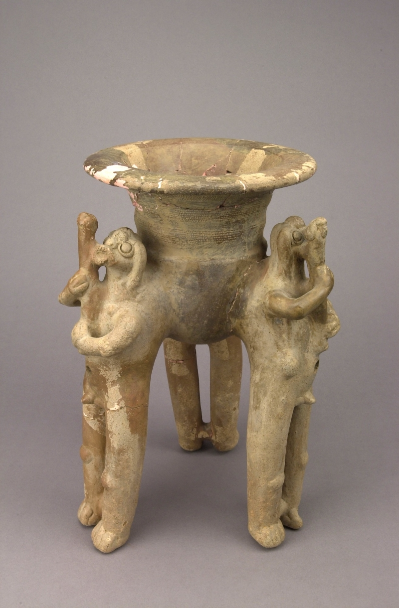 Tripod Jar with Humanoid Supports