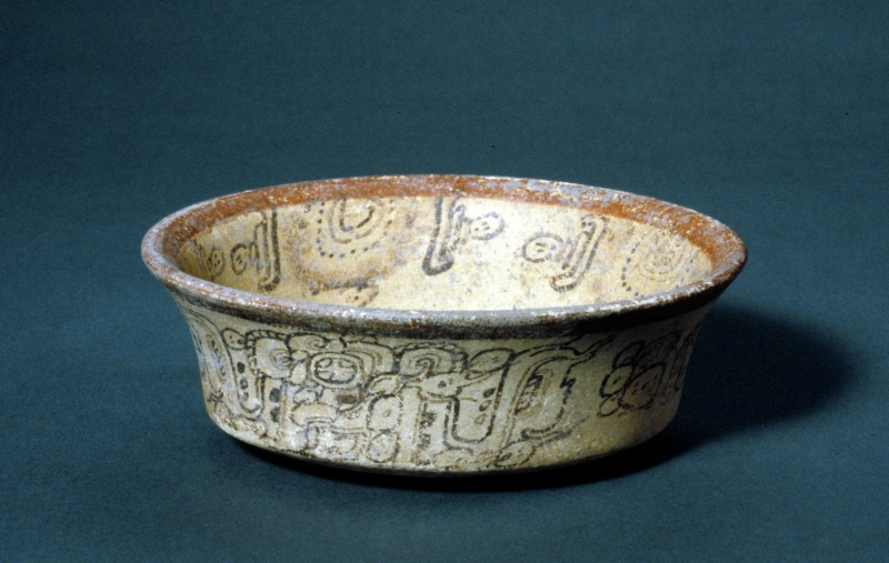 Atole Cup with Maize and Water Imagery