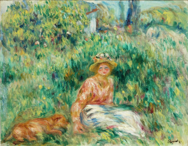 Young Woman in a Garden or Woman and Rip on the Grass (Jeune femme dans un jardin or Femme et Rip dans l'herbe)