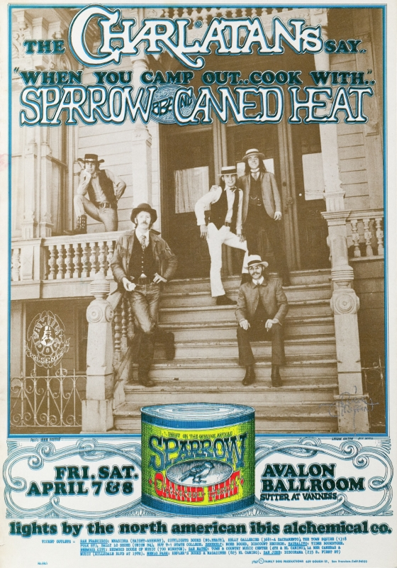 Canned Heat; Charlatans, Canned Heat, Sparrow; Avalon Ballroom