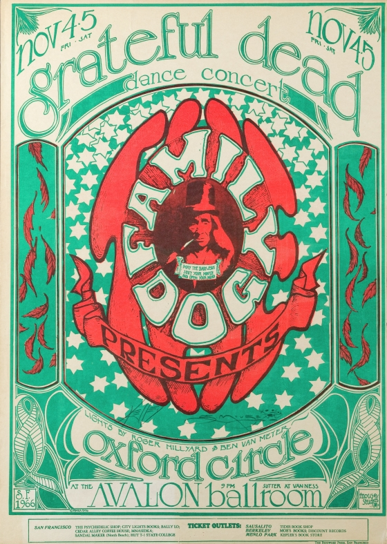 Logo; Grateful Dead, Oxford Circle, Avalon Ballroom