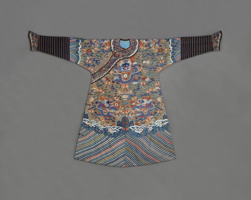 Manchu Man's Semiformal Court Robe