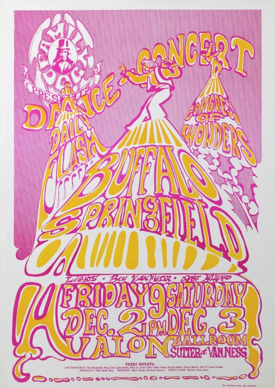 Cake; Buffalo Springfield, Daily Flash, Congress of Wonders; Avalon Ballroom