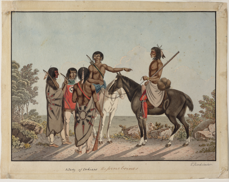 A Party of Indians -- Asseneboines