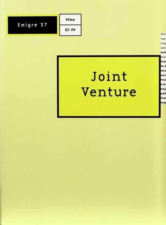 Emigre 37: Joint Venture