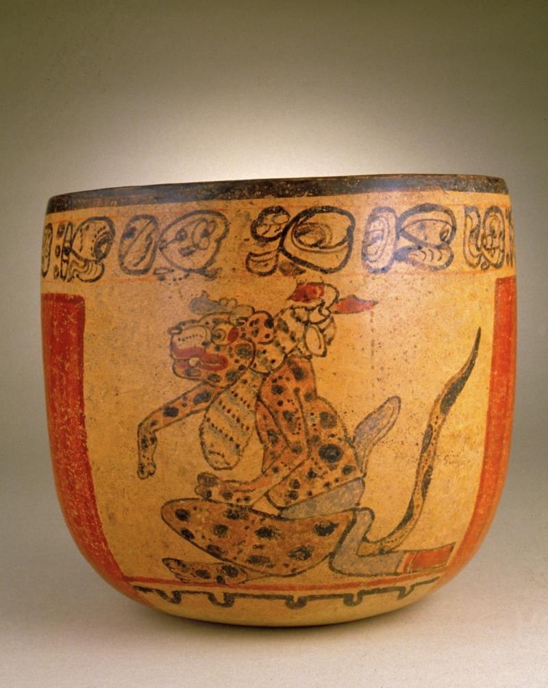 Polychrome Vessel with Seated Jaguars