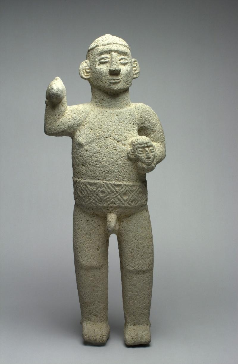Standing Warrior Figure with Trophy Head