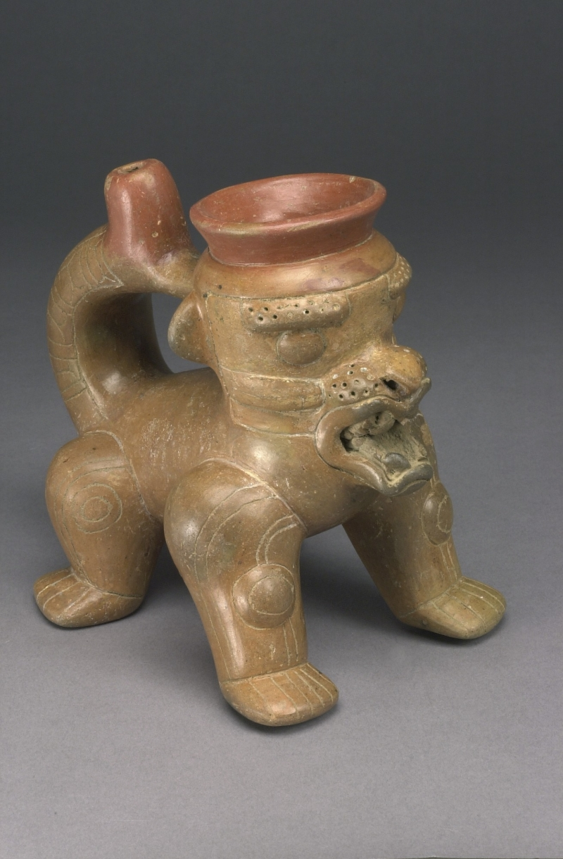 Feline-form Spouted Jar