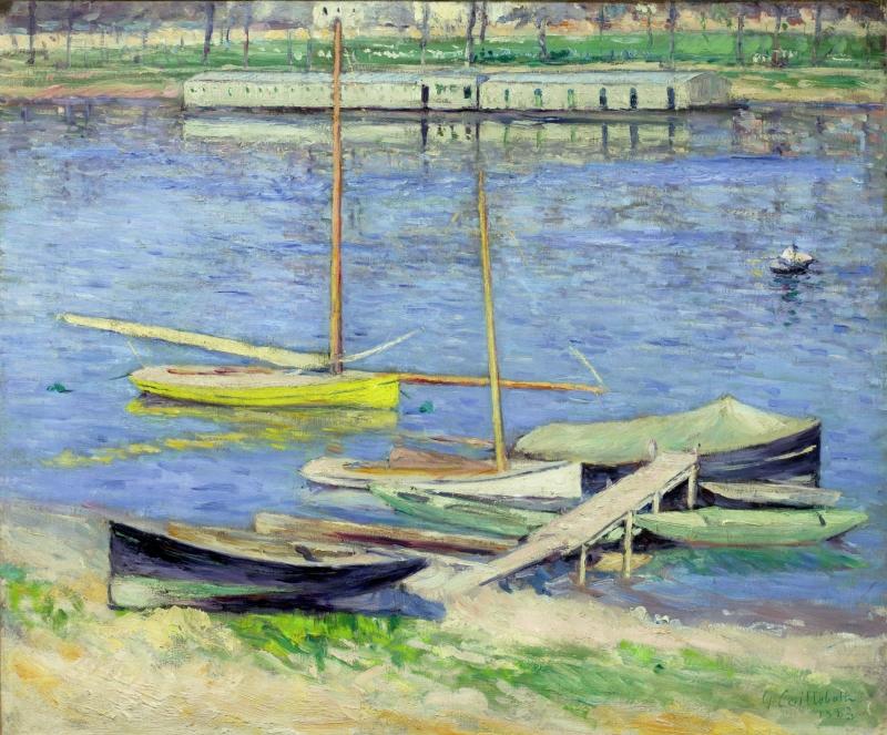 Boats Moored at Argenteuil (Voiliers au mouillage sur la Seine à Argenteuil)
