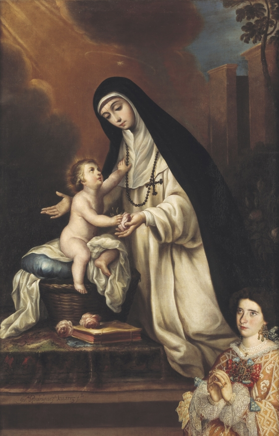 St. Rose of Lima with Christ Child and Donor