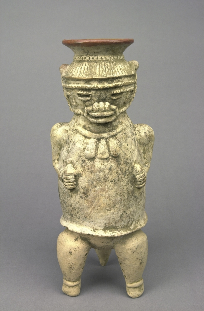 Tripod Jar in the Form of a Masked Figure