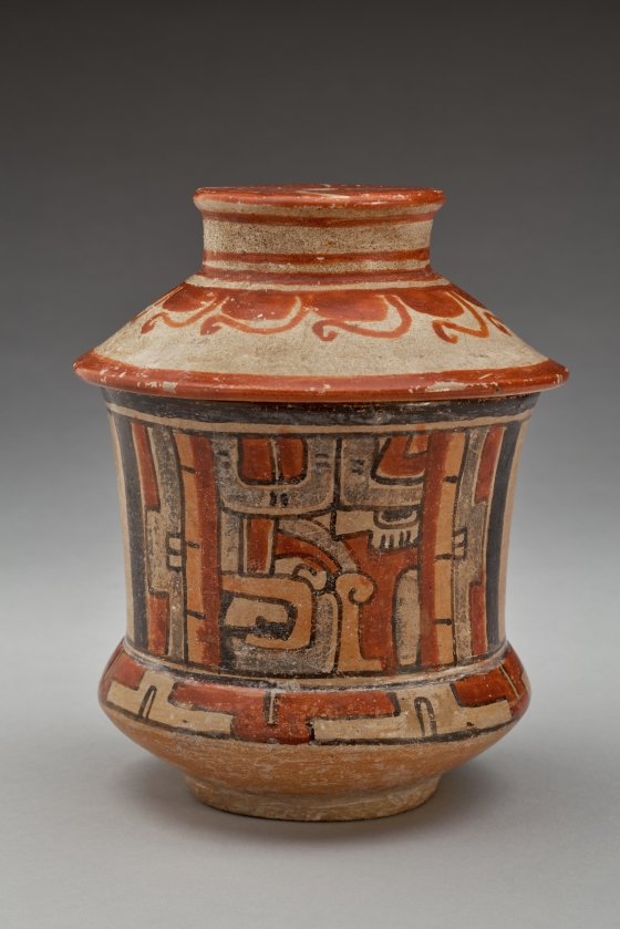 "Lidded Vessel with ""Shiner"" Faces"