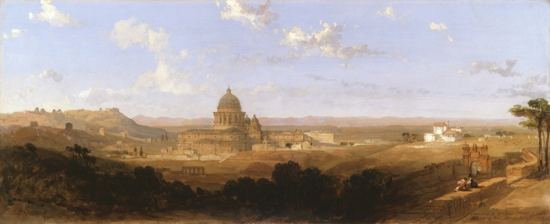 St. Peter's, Looking Back on Rome