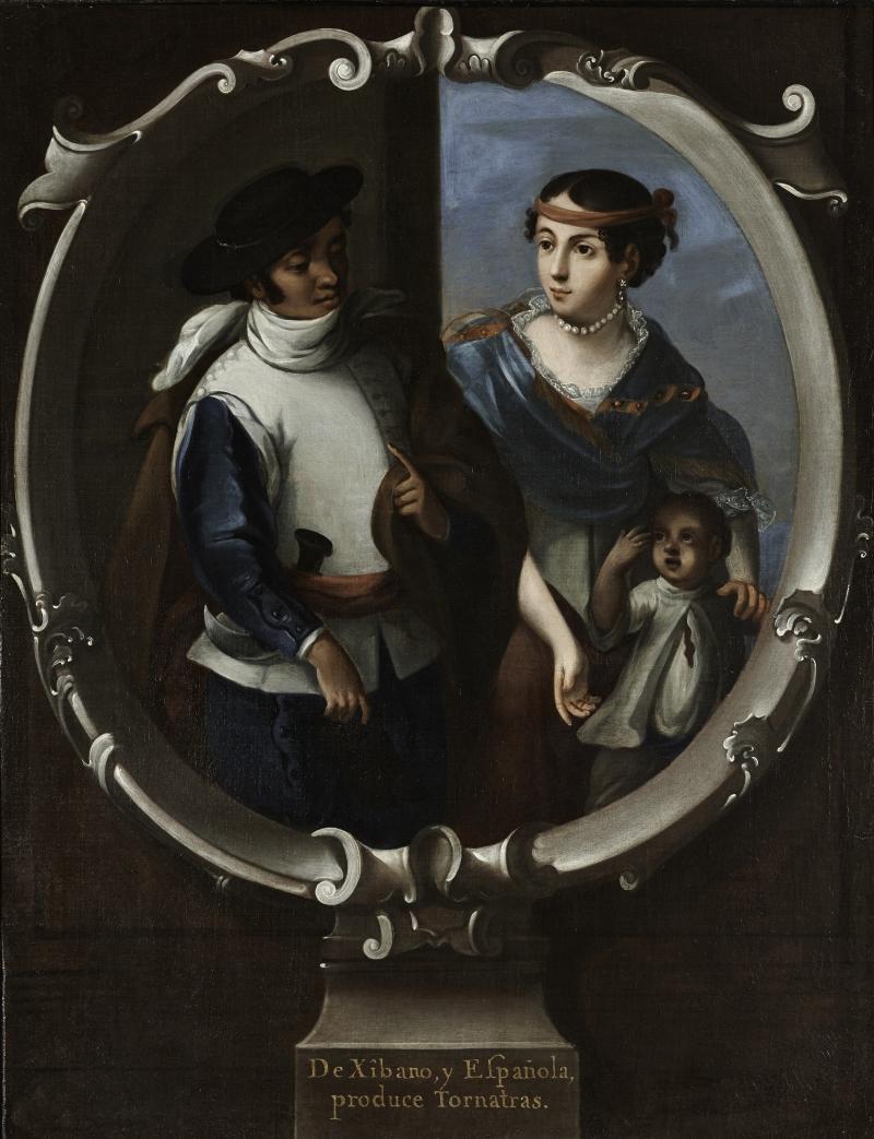 Xibano and Spaniard Produce Tornatras (De Xibano, y Espanola, produce Tornatras) (casta painting)