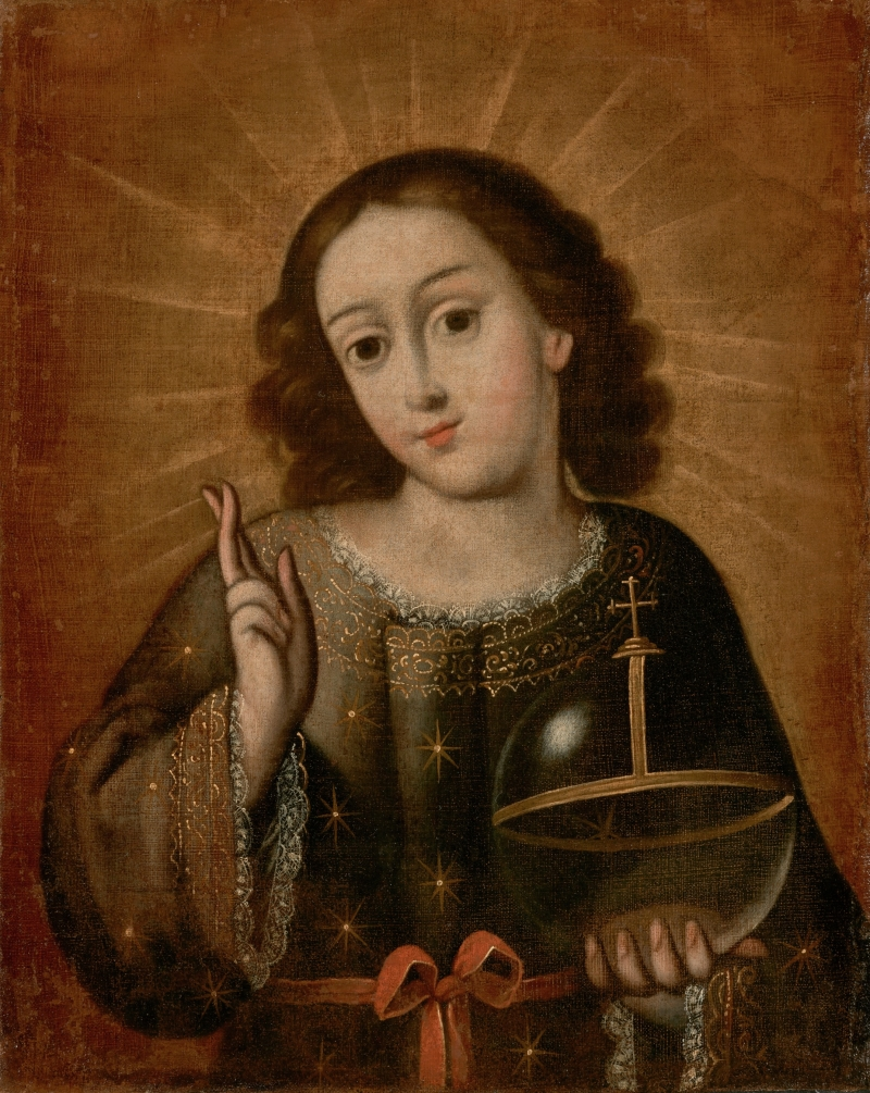 Christ Child as Salvator Mundi