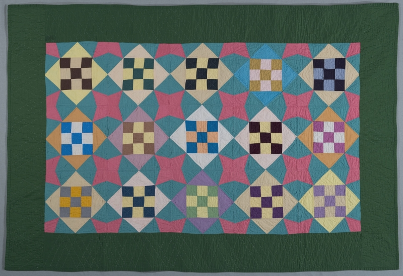 Nine Patch in Diamond Quilt