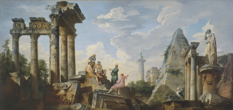 Capriccio with Roman Ruins and Figures
