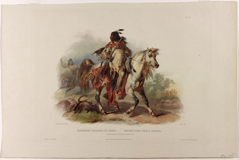 A Blackfoot Indian on Horseback