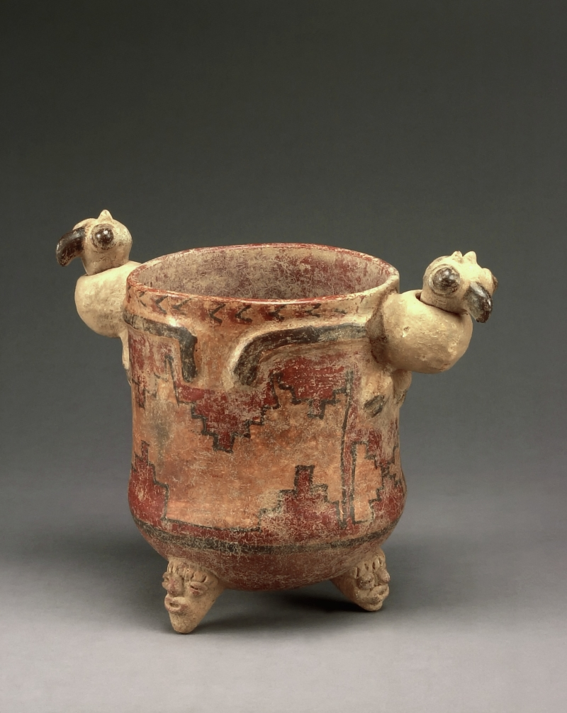 Tripod Jar with Bird-form Lugs with Moveable Heads