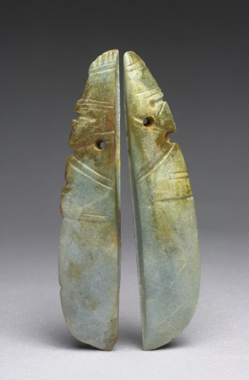 Bird-form Celt Pendants