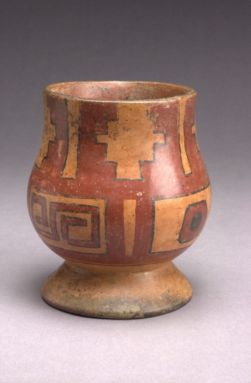 Pedestal Jar with Painted Decoration