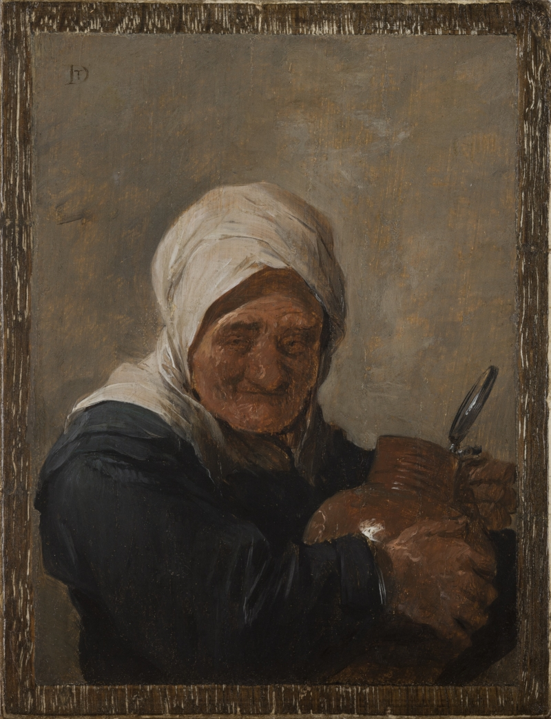 Old Woman Holding a Flagon
